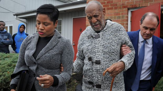 Bill Cosby leaving court in Elkins Park, Pennsylvania, on Wednesday.