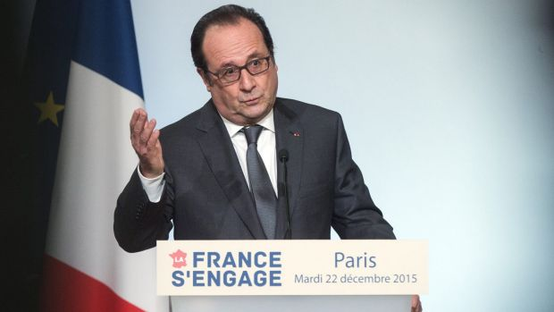 French President Francois Hollande in Paris last year.