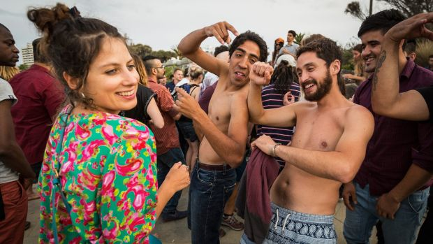 While some were waking up, others were still partying at St Kilda Beach on Friday morning.