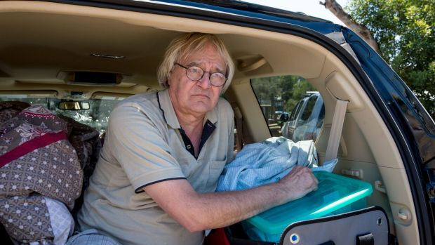 Christian Cleveland has been sleeping in his car since being evacuated from his Kennett River home.