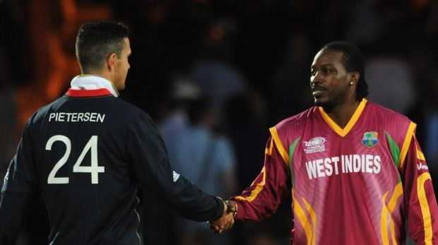 Master blasters: Kevin Pietersen and Chris Gayle .... back in 2009.