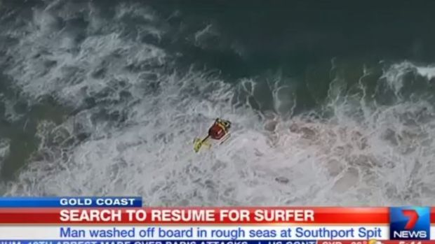 An air and sea search has resumed for Coomera man Joshua Dixon, who went missing after going for a surf at the Spit.