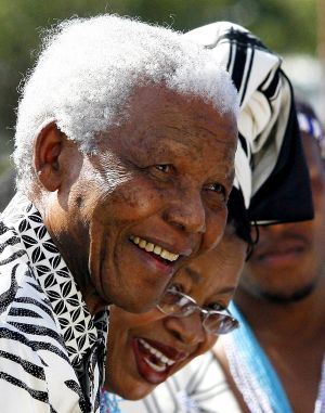 The late Nelson Mandela and his wife Graca Machel arrive in 2007 to see his grandson Mandla Mandela officially installed ...