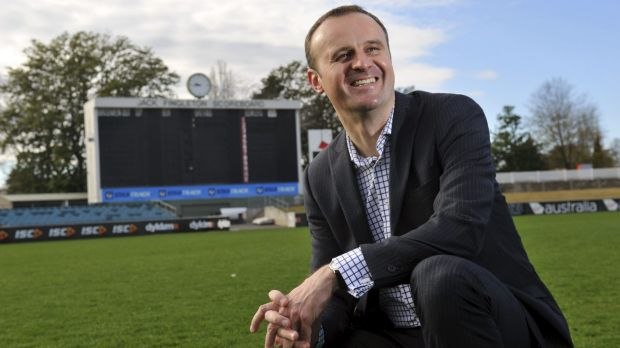 Optimistic: ACT Chief Minister Andrew Barr.