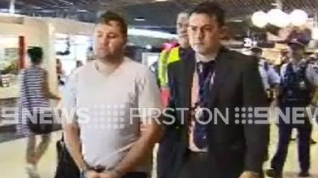 Jason Greatbatch lands in Queensland ahead of Saturday's court appearance.