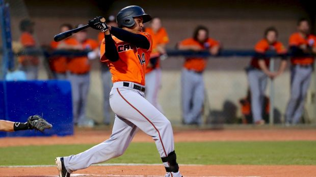Outfielder Derrick Loveless is playing his last series for the Canberra Cavalry.