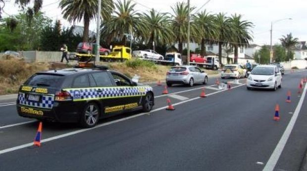 Victoria Police have caught three drivers on New Year's Day as part of Operation Roadwise.