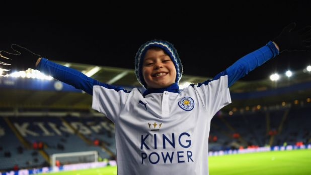 This is what a very happy Leicester City fan looks like.