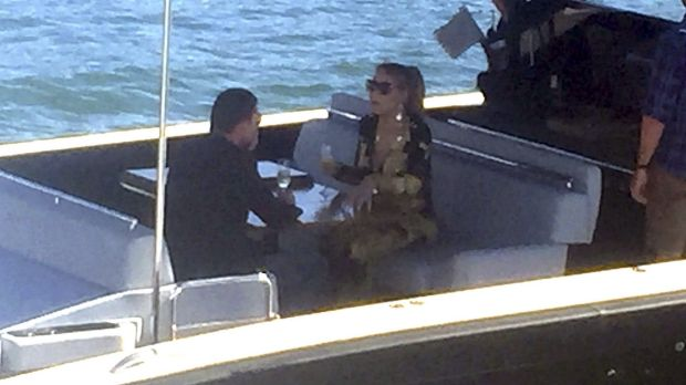 James Packer and Mariah Carey enjoy a cruise on Sydney Harbour.