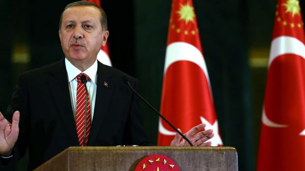 Critics accuse Turkish President Tayyip Erdogan of using the law to stifle dissent.