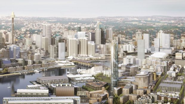 An artist's impression of the proposed new hotel tower at The Star.