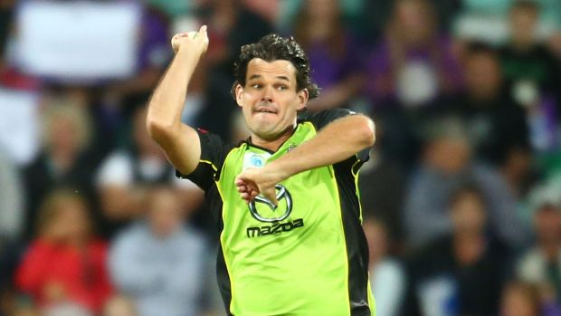 Bright spot: Thunder bowler Clint McKay is the leading wicket taker in the Big Bash League.