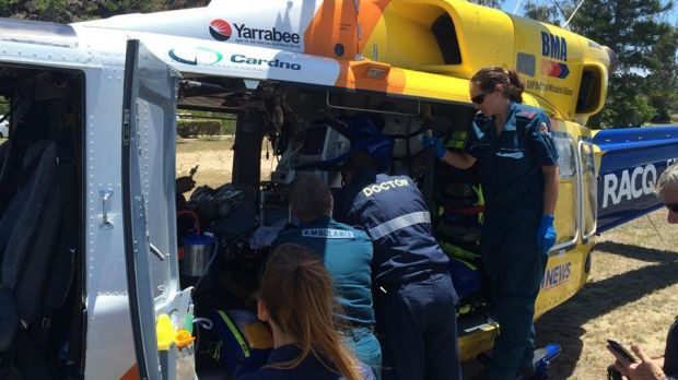 RACQ Capricorn Helicopter Rescue Service transported a doctor and a paramedic to treat a spearfisherman who had been ...