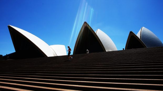 Defaced and damaged: The Sydney Opera House.