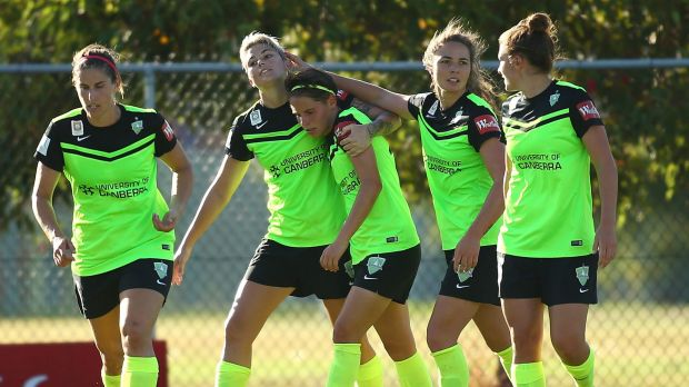 Canberra United players will take on Singapore on Wednesday.
