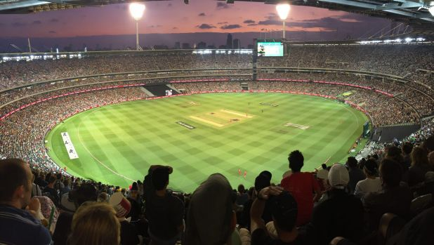 Fan favourite: A record crowd of 80,883 for domestic cricket  at the MCG.