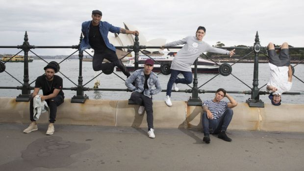 Justice Crew launch the Australia Day concert.