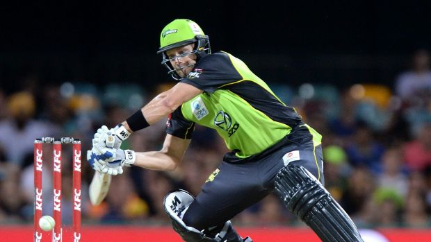Struggling: Shane Watson has been below his best for the Sydney Thunder.