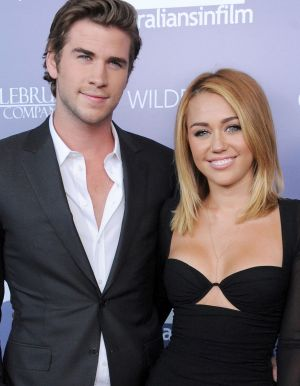 Liam Hemsworth and Miley Cyrus in 2012.
