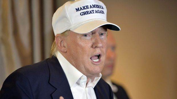 Denies golf claim: Presidential hopeful Donald Trump.