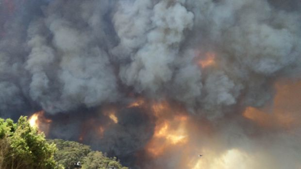 There is a bushfire warning for parts of Victoria on Saturday.