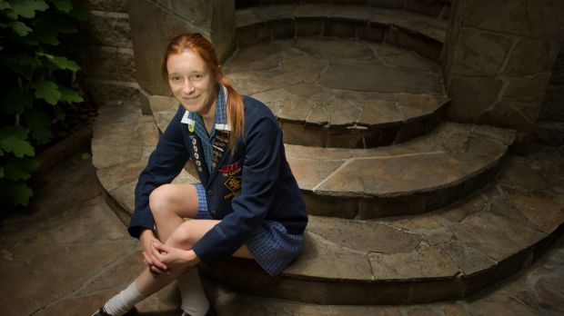 Beattie Goad of Lauriston Girls  is pleased with her International Baccalaureate results.