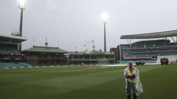 State of no play: the SCG after play was abandoned on Monday.