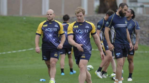 Brumbies captain Stephen Moore, David Pocock and Scott Fardy are back at training after an eventful off-season.