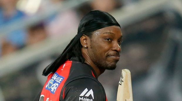 Polarising figure: Melbourne Renegades opener Chris Gayle.