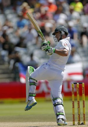 South Africa's AB de Villiers  in action at Newlands.