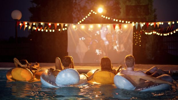Watching movies in the garden sounds like great fun. But it isn't.