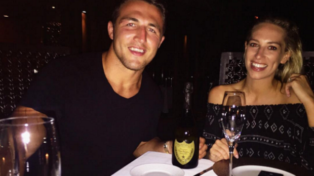 Sam and Phoebe Burgess are living it up in the Maldives.