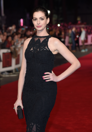 Anne Hathaway attends the British premiere of The Intern in London last September.