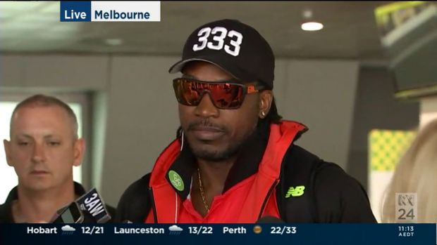 Chris Gayle apologised, but did not seem to really understand his offence. Photo: ABC