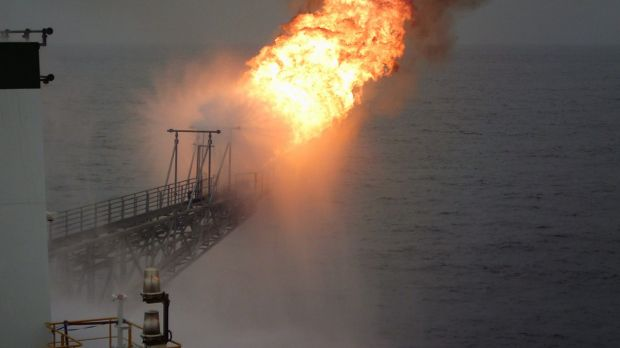 Flare from the SNE-2 appraisal well drilled by FAR Ltd and Cairn Energy off Senegal in December 2015.