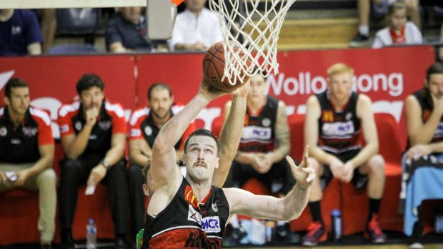 Strong comeback: Illawarra Hawks centre A.J. Ogilvy.