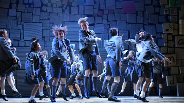 Matilda The Musical media call at the Lyric Theatre in Sydney.