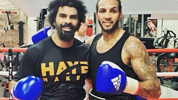 David Haye prepares for the fight in London.