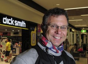 Outside the Majura Park store is long time customer, Ray Arthurs, of Conder, who hopes the Dick Smith stores survive.