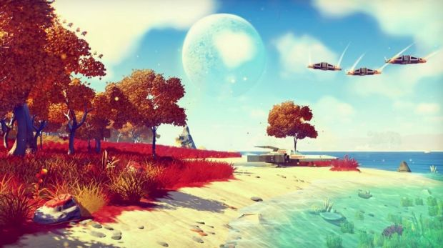 Stunning detail in the sci-fi world created in new game No Man's Sky.