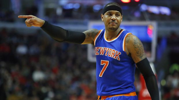 New York Knicks forward Carmelo Anthony has picked friends among his votes.