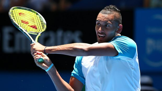 'I don't think Nick's put a foot wrong so far': Lleyton Hewitt on Nick Kyrgios, pictured.