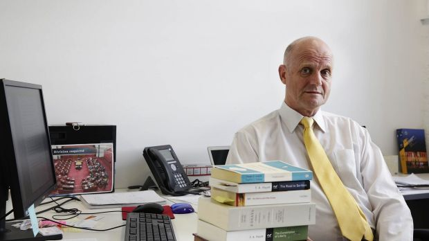 Liberal Democrat senator David Leyonhjelm in his Sydney office.