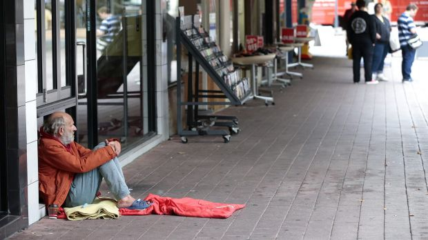Seeking money in Garema Place: Canberra CBD has called on the government to deal with beggars and charity workers in the ...