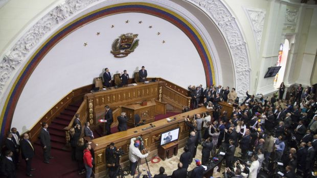 The National Assembly in Caracas, Venezuela, on Tuesday.