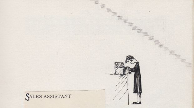 Detail from the author's In-Book of Department Store Paraphernalia.