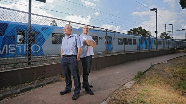 Northcote residents  Harry Blutstein and Nick Karamouzis say 24-hour public transport gives them sleepless nights.