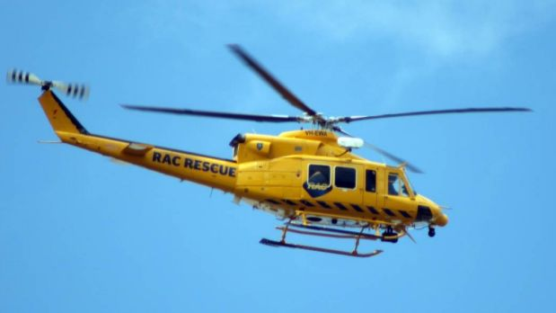 The RAC rescue helicopter has winched three stranded fisherman to safety.