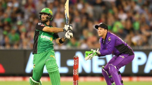 Glenn Maxwell was in smashing form for the Stars, sharing a 99-run stand with Wright.