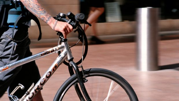 The number of cyclists riding to Civic for work may have plateaued.
